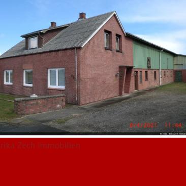 Wohnhaus mit Resthof und Gewerbehalle